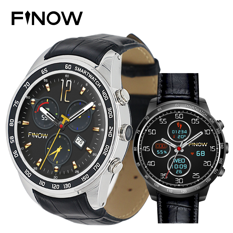 2017 New Finow Q7 plus smart watch Wearable Devices with 0.3MP MTK6580 Android 5.1 Rom8GB support 3G Wifi BT 4.0 for Men/Women
