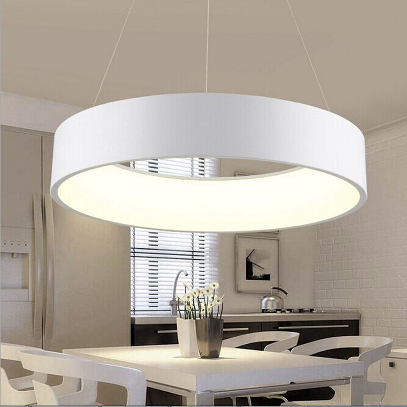 Minimalist Hanging Round Lamp Modern Circle Led Pendant Light Ring Pendant Lamp For Kitchen Island Living Room Dinning Room ...