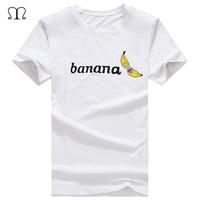 Funny Anime Banana Tees New Fashion Summer Short T Shirt Cotton Comfortable Male T Shirt Men