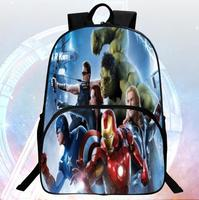 New Style 16 Inch Printing Hero Iron Man School Bag Avengers Kids Bags Children Backpack Boys