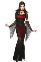 Đỏ đen gothic sexy costume halloween ảo cosplay dành cho người lớn fancy dress trang phục ma cà rồng cosplay dress fantasias femininas 8836
