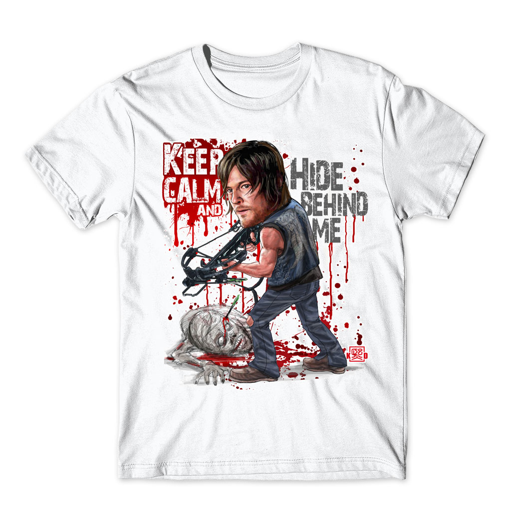 Fashion Men's The Walking Dead White Printed T Shirt Short Sleeve Round Neck Tops tees Unique Design Movie Play Letter's T-shirt