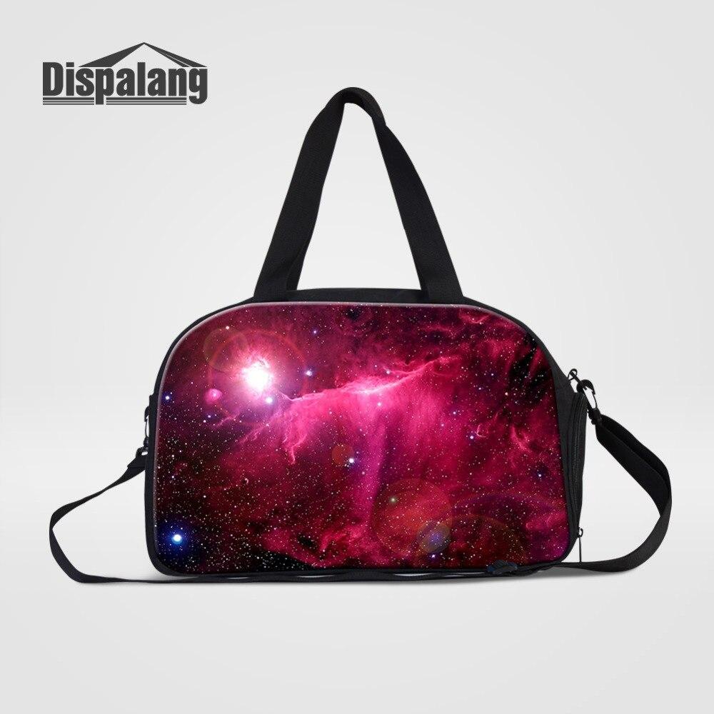 Dispalang univers espace Galaxy Star femmes sacs de voyage grande capacité hommes bagages voyage sac de voyage épaule sacs à main pour les voyages