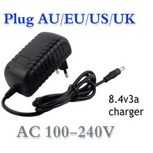 best price 8.4V 3A * 5.5 * 2.1mm AC DC power adapter charger adapter for 7.2V 7.4V 8.4V 18650 Li-Ion Li-po battery free shipping 12 v charger 12 6 v 18650 lithium battery charger dc 5 5 2 1 mm power adapter free shipping