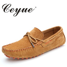 Ceyue брендовая летняя повседневная обувь Высокое качество мужские замшевые кожаные лоферы без застежки обувь для вождения модные водонепроницаемые Мокасины обувь мужские мокасины