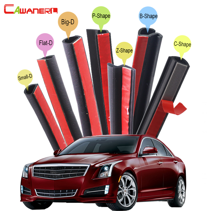 Cawanerl Whole Car Rubber Sealing Seal Strip Kit Seal Edge Trim Weatherstrip Sound Control For Cadillac ATS BLS Catera CTS cawanerl whole car seal sealing strip kit sound insulation seal edging trim rubber weatherstrip for lincoln continental ls mks
