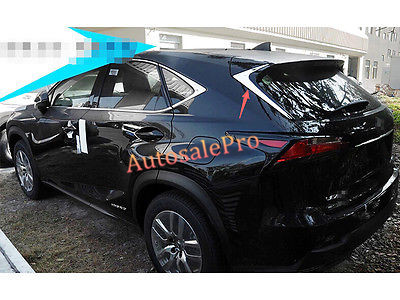 Stainless Rear Window Triangle Sill Trim Cover For LEXUS NX200T NX300H 2015 2016 new arrival for lexus rx200t rx450h 2016 2pcs stainless steel chrome rear window sill decorative trims