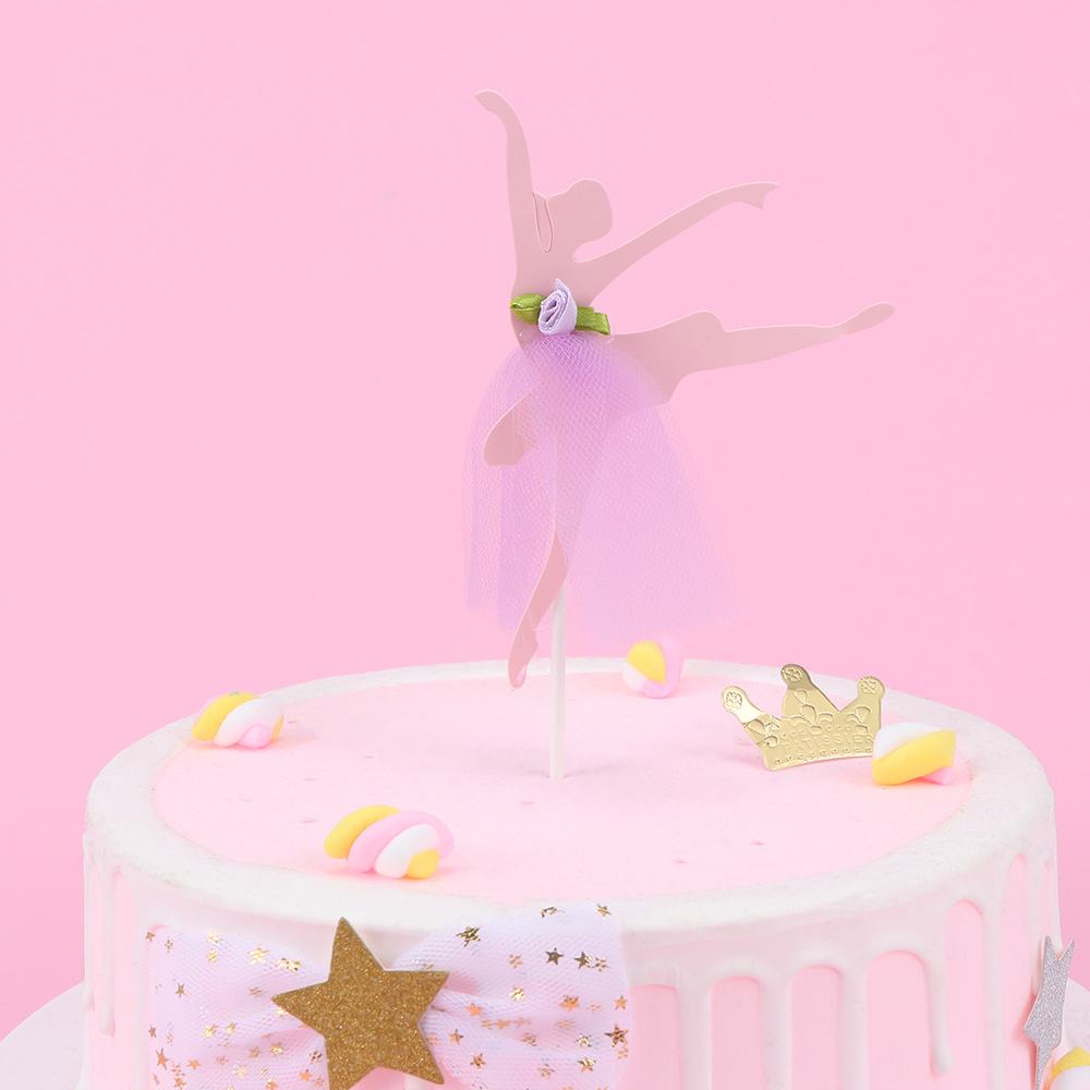 Awesome Ballet Girl Dress Birthday Cake Topper Cupcake Decoration Baby Funny Birthday Cards Online Barepcheapnameinfo