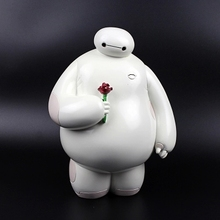 Big Hero 6 Action!Figure Baymax Resin Money Box 1PC (Medium) White Piggy Bank Creative Crafts Gifts 15.5cm