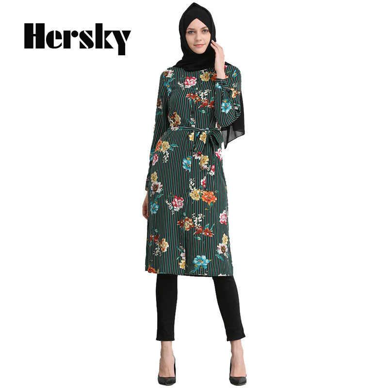 8f349453 Fashion Baju Muslim Women Long Tops Abaya Dubai kaftan Arabe Musulman Long  Sleeve Shirt Turkish Islamic
