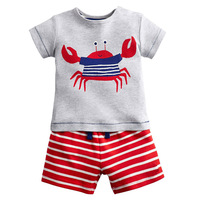 Kids Shorts Suits Children Tracksuit For Boys Sets 2018 Summer Baby Boy Clothes Animal Applique 2pcs