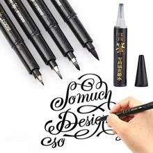 Calligraphy Pen Brush Pen Pens Lettering Lettering Hand Markers for Writing DrawingBlack Ink Holder Pencil Grip School-supplies 6pcs lot wooden pen resting brush holder calligraphy supplies tools