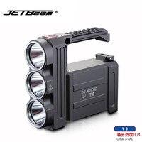 Светодиодный фонарик JETBeam T8 CREE 3 XPL LED Макс. 3500 люмен луч расстоянии 800 м кемпинг водонепроницаемый фонарик поиск свет