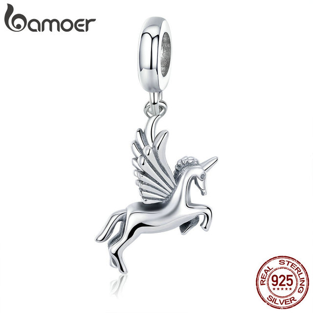 BAMOER Authentic 100% 925 Sterling Silver Trendy Memory Charm Pendant fit Women