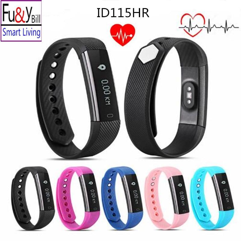 imágenes para Fu & y Bill ID115HR Bluetooth Del Ritmo Cardíaco del Deporte Pulsera Rastreador de Ejercicios Paso Contador Actividad Monitor de Alarma Del Reloj Pulsera pk mi2
