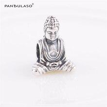 Chinois Bouddha Vintage Perles Fit Pandora Charms Argent 925 D'origine Serpent Chaîne Bracelet Nouvelle Mode DIY Bijoux Pour Femmes