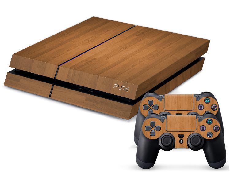 Light Wooden Ps4 Sticker Ps4 Skin Ps4 Stickers 2pcs