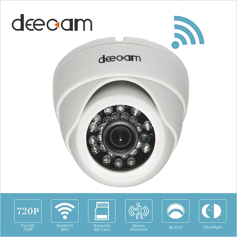 cheap deecam wireless ip camera dome wifi hd 720p sd card. Black Bedroom Furniture Sets. Home Design Ideas