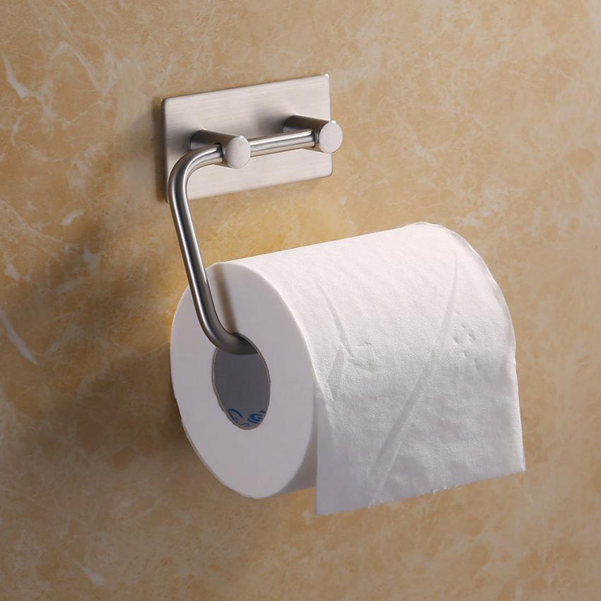 Ванная комната самоклеящиеся туалет Бумага держатель Нержавеющаясталь ткани Бумага roll ...