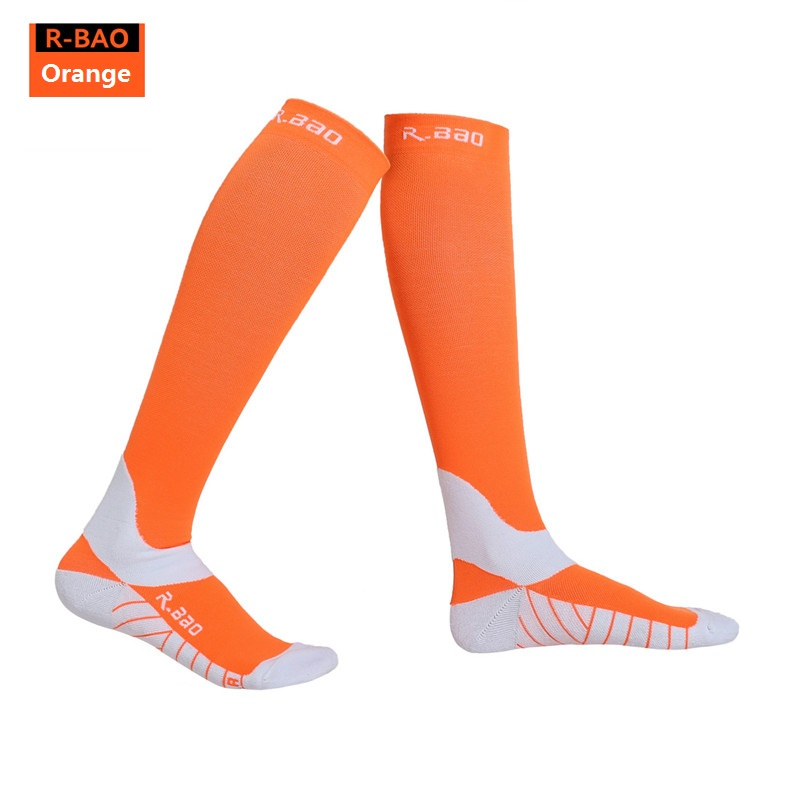 RB7707 R Bao Men/Women Professional Compression Running Stockings High quality Marathon Sports Socks Quick Dry Bicycle Socks-in Running Socks from Sports & Entertainment