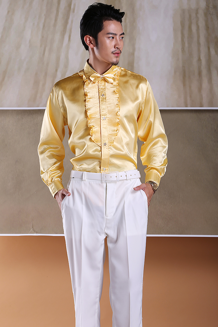 Men's light side lace shirt male and female costumes chorus shirt Annual Gala