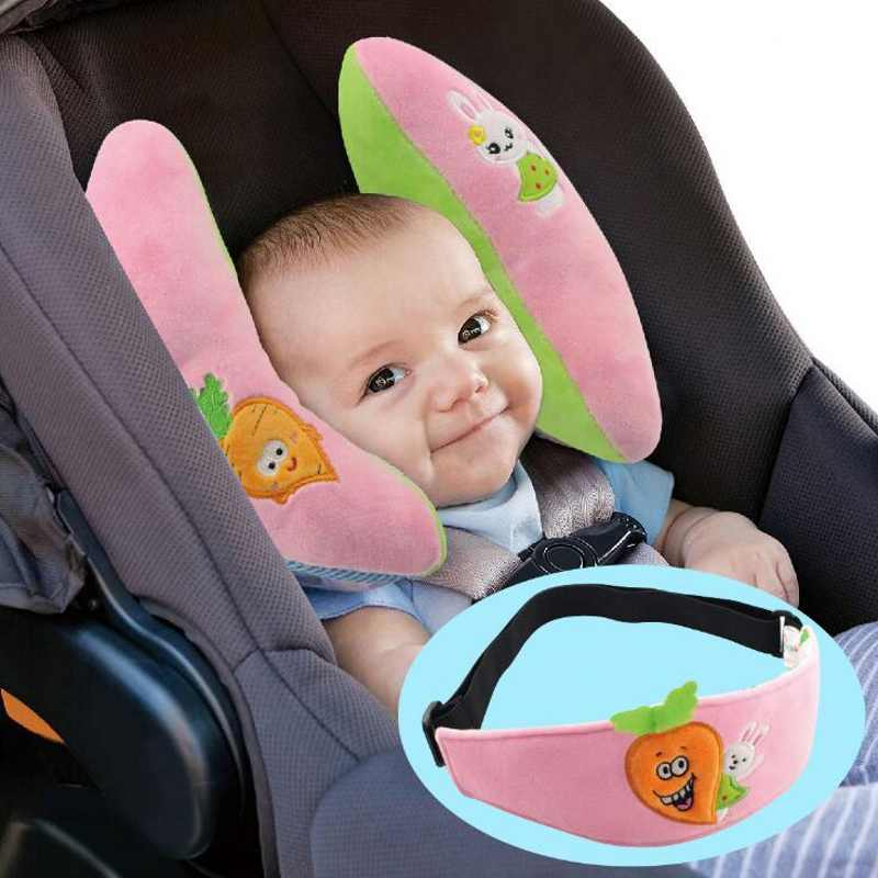 Baby Pillow Support Headrest Travel Car Seat Adjustable Neck Pillow Kids Neck Cushion Baby Protection Head Pillow +Eye Shade baby pillow ligth weight comfortable multi color cartoon u shaped neck travel pillow automatic neck support head rest cushion