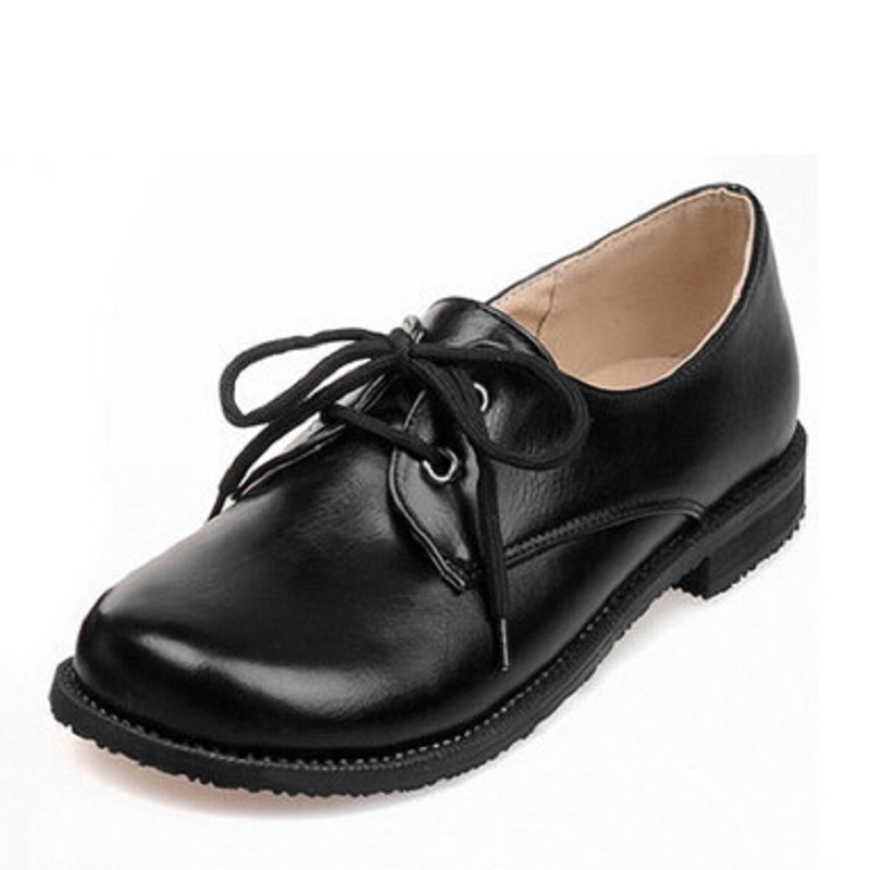 Shoes font b Woman b font PU Faux Leather Oxford Shoes For font b Women b