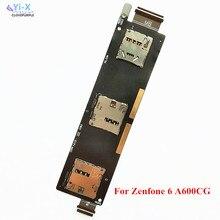 20 шт./лот sim-карты слот SIM Card Reader гнездо держатель гибкий кабель для ASUS Zenfone 6 A600CG T00G Sim карта гибкий кабель