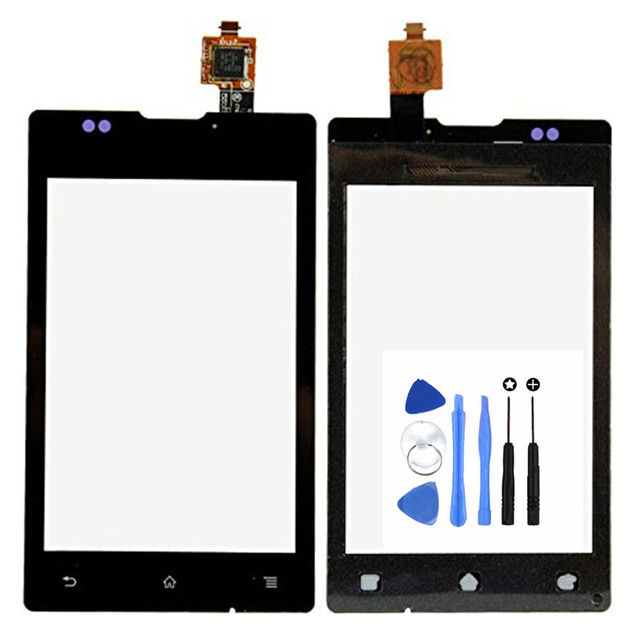 Vannego Free Shipping 3.5'' For Sony Xperia E C1505 C1504 C1605 C1604 Touch Screen Digitizer Sensor Front Glass Lens with Tools