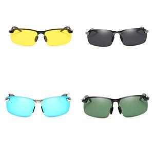 Image 5 - Outdoor Riding Sunglasses women Men Reflective Night vision Anti glare Goggles UV400 Car sunshade Plarization Sunglasses Women