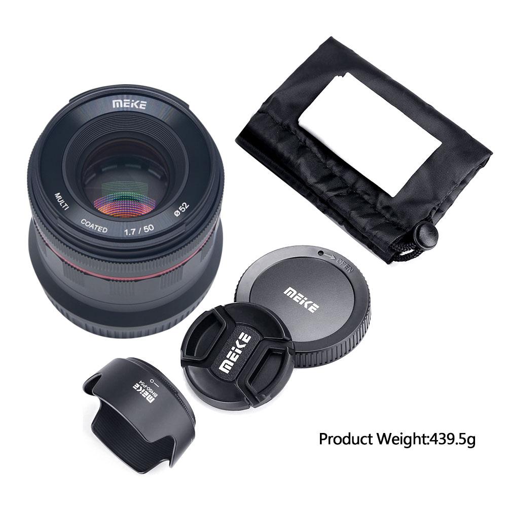 Meike 50mm f/1.7 objectif de mise au point manuelle à grande ouverture plein cadre pour Canon EOS R mount/pour Nikon Z Mount Z6 Z7 appareils photo sans miroir - 6