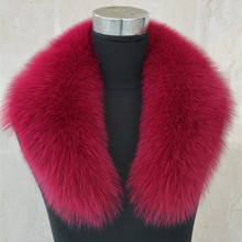 New Real fox fur collar women fashion winter genuine fur scarf for coat jacket clothing Top quality S1039WS