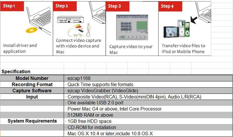 Generic USB Audio Video Capture VHS to DVD Converter Capture