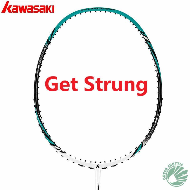 100% Original Kawasaki  Full Carbon Badminton Racket Raquette Badminton With Gift