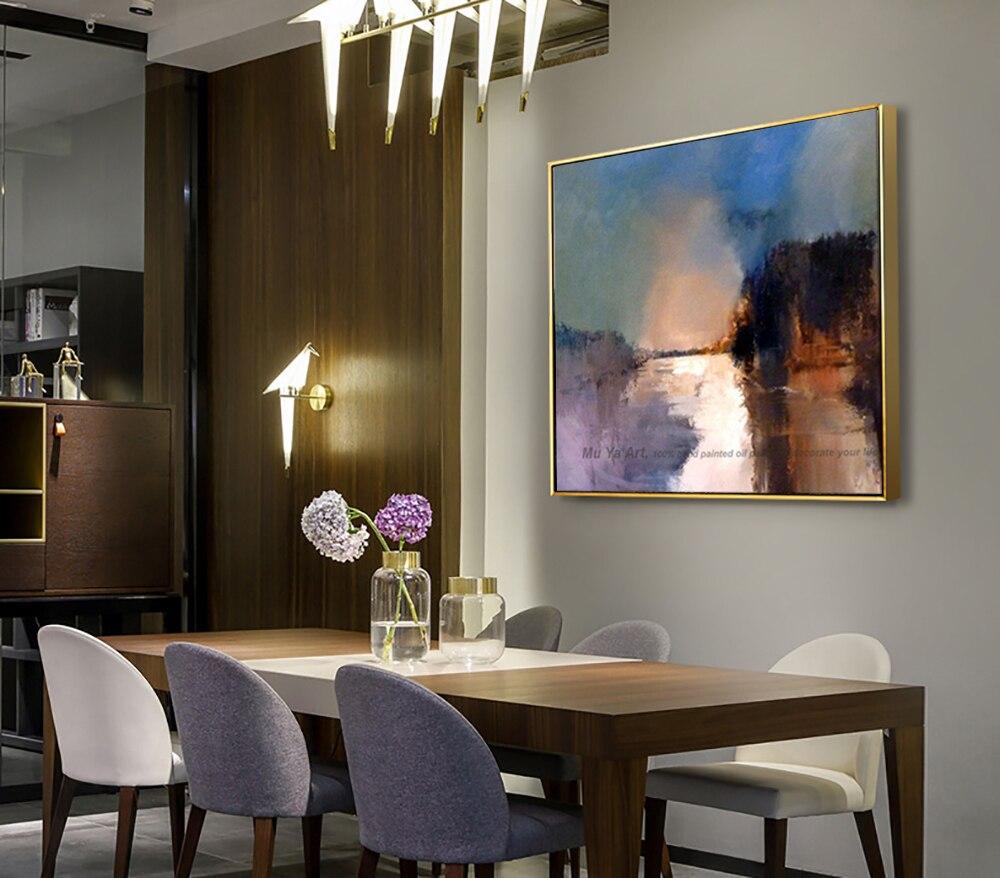 Dekorative kunst handgemachte ölgemälde auf leinwand abstrakte landschaft wand bild malerei wohnzimmer cuadros decoracion abstracta - 4