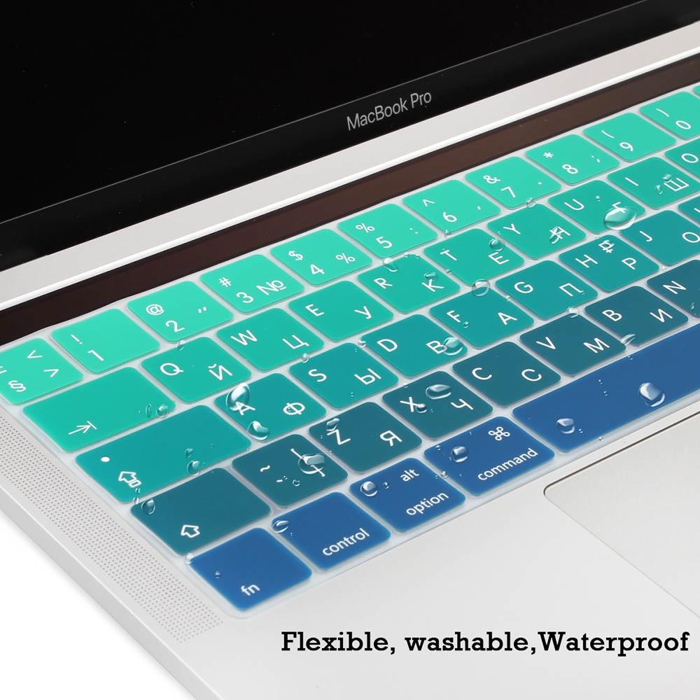 ES Rusijos spalvinga gradiento minkšta silikoninė klaviatūros - Nešiojamų kompiuterių priedai - Nuotrauka 4