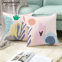 Fuwatacchi Floral Cushion Cover Simple Line Couch Pillows Throw Pillows Cover Home Sofa Car Decorative Pillowcase цены