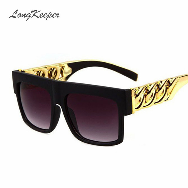 Oversized Mens Sunglasses Retro Vintage Brand Designer Sun Glasses for Men  Big Frame Black Gold Silver Gafas De Sol Hombre Y9941 1c049fb26