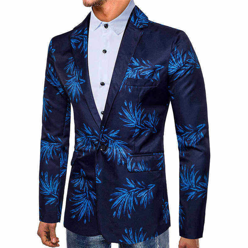Fashion Men Autumn Winter Leopard Printed Long Sleeve Coat Outwear Top Blouse Offices Classic Suit Formal Jacket Man L15# (7)