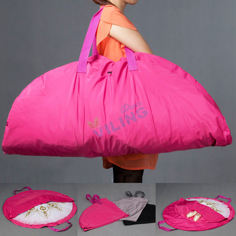 Ballet TUTU Dance bag Pink waterproof bag for ballet tutu canvas flexible and foldable soft Ballet bag for ballet tutus zippers
