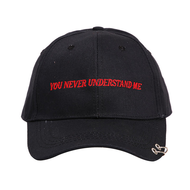 83dbed11892 Badinka 2018 Summer Black White Letter Embroidery Snapback Baseball Cap  With Ring Hip Hop Hats for Men Women Solid Color hats