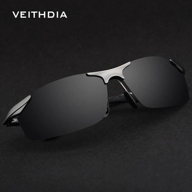 VEITHDIA - Lunettes de soleil - Homme Noir Gray-black vfXHYN
