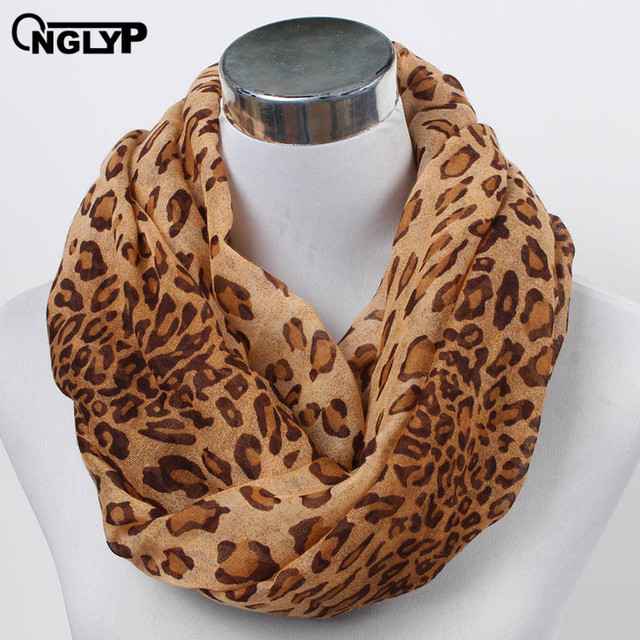 ONGLYP Sexy Wild Ladies Loop Scarf Leopard Print Fashion Ring Scarf Fashion  Women Animal Infinity Scarves f306e3a12