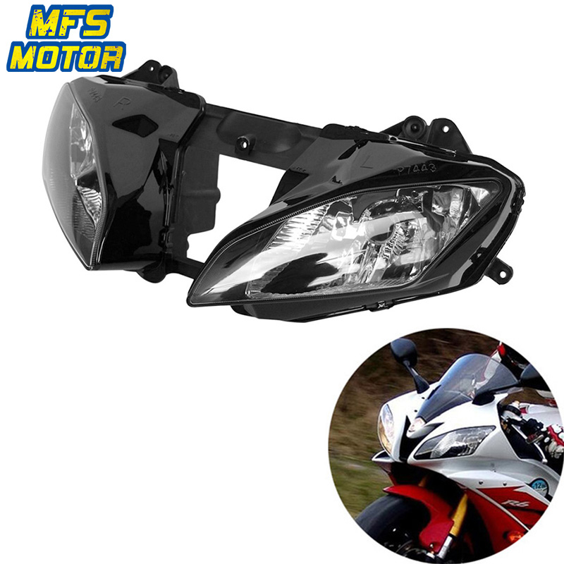 Headlight For 06-07 Yamaha YZF-R6 YZFR6 YZF R6 Motorcycle Front Lamp Assembly Upper Headlamp Head Light Housing 2006 2007 все цены