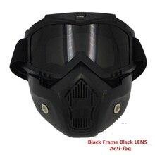 Vcoros мотоциклетный шлем мотокросс goggle съемный маска очки и рот фильтр для открытый шлем кафе racer glasse