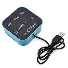 Bellek Kartları Okuma Cihazı USB 2.0 Combo Adaptörü için Mikro SD SDHC TF M2 MMC MS PRO DUO kart okuyucu USB splitter HUB için HUB