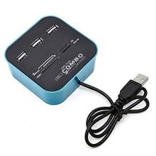 ذاكرة بطاقات القراءة جهاز USB 2.0 كومبو محول ل مايكرو SD SDHC TF M2 MMC MS برو الثنائي قارئ بطاقات USB الفاصل محور للكمبيوتر