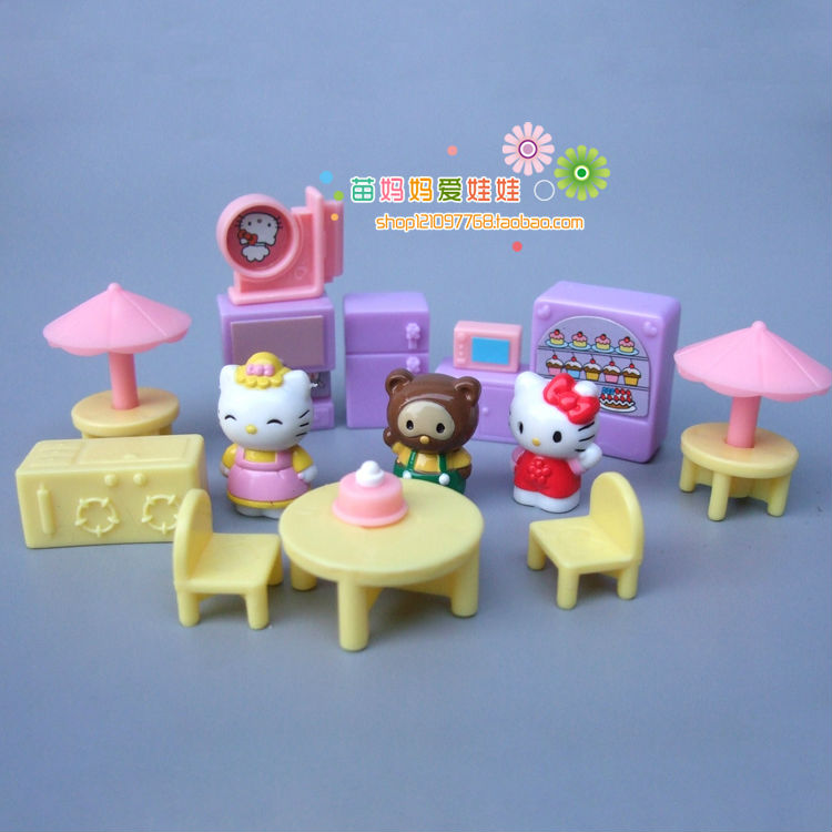 Fee shipping candy toys funiture toy 16 items mini kitty play doll house accessories for girl's birthday new year present gift high quality candy grabber kids birthday party favors gift desktop mini dolls grabber machine claw toys free shipping