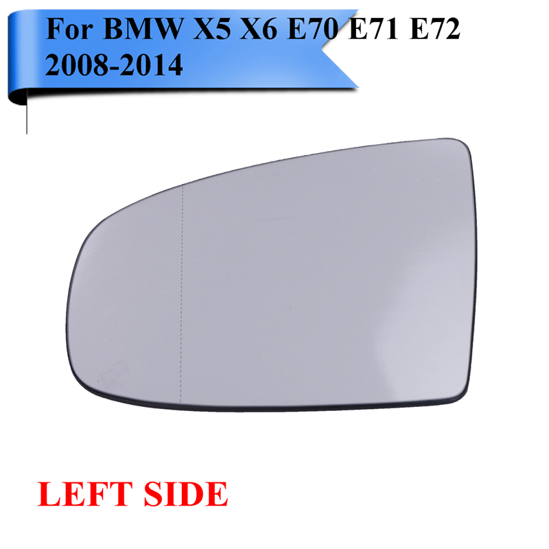 Driver+Passenger Rearview Side Mirror Glass Heated For BMW X5 X6 E70 E71 E72