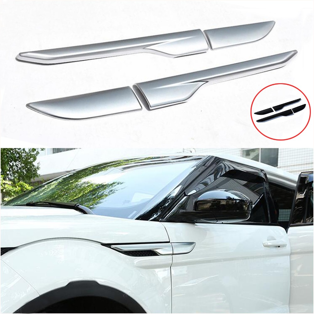 TTCR-II Car Accessories for Land Range Rover Evoque Modified Sport Styling Car Side Wind Blade Shape Fender ABS Decorative dee car accessories for land range rover evoque modified sport styling car side wind blade shape fender abs decorative